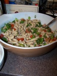 Tossed with Brown Rice Pasta, a bit of Balsamic Vinegar and Olive Oil= Yummy!